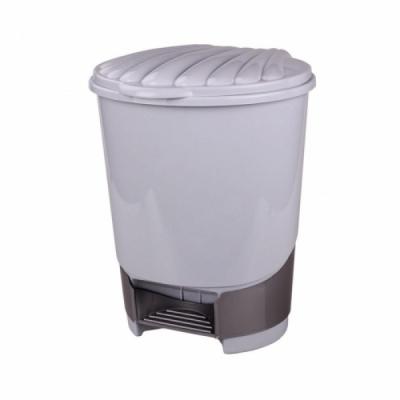 Контейнер для мусора 18л с педалью цвет в асс-те Альтернатива (1/2)
