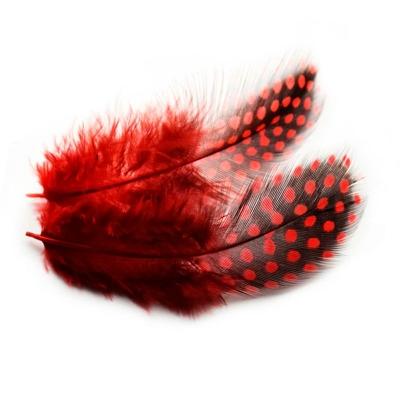 Перья Пятнистые Красные 6-8 см