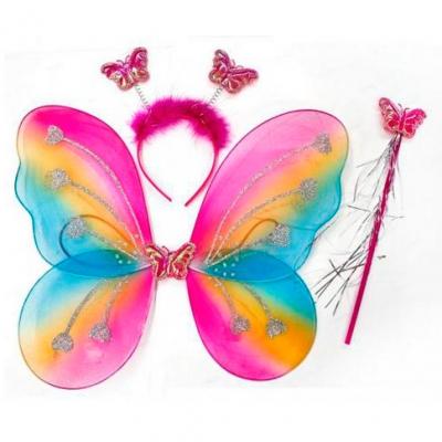 Карнавальный набор Бабочка, Разноцветный, 3 предмета / 1 набор /
