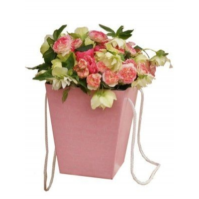 Коробка для цветов Розовая 12,5*18*22,5 см