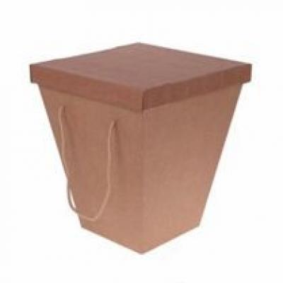 Коробка для цветов транспортировочная Крафт 20*34*40 см