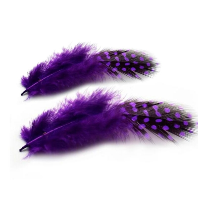 Перья Пятнистые Фиолетовые 6-8 см