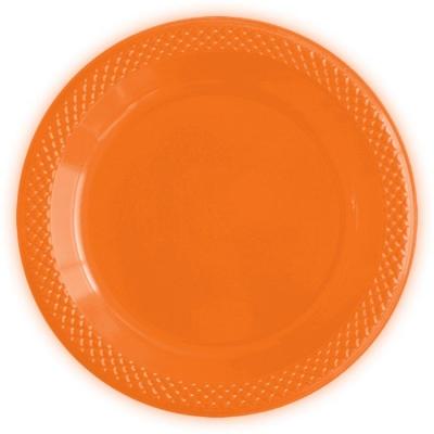 """Тарелки пластиковые """"Делюкс"""" Оранжевые"""
