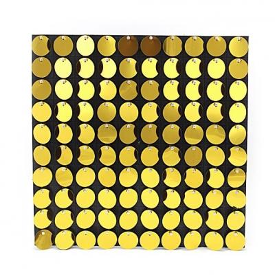 Панели с пайетками, Золото, 30 см*30 см