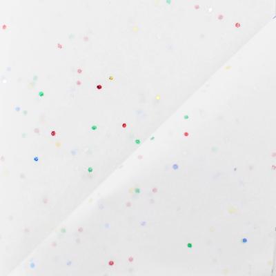 Бумага упаковочная тишью Белая со звёздами / листы