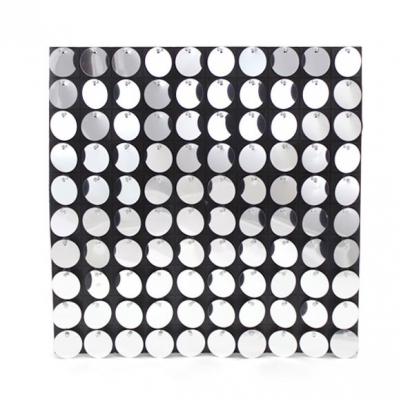 Панели с пайетками, Серебро, 30 см*30 см