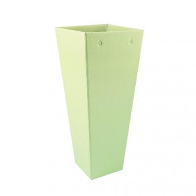 Коробка для цветов Трапеция высокая салатовый 90*140*350 мм