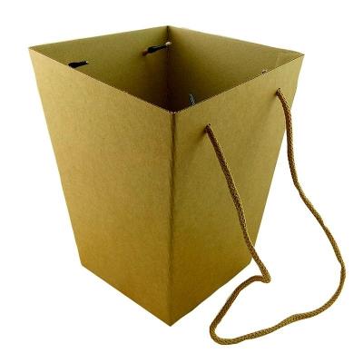 Коробка для цветов Крафт 12,5*18*22,5 см