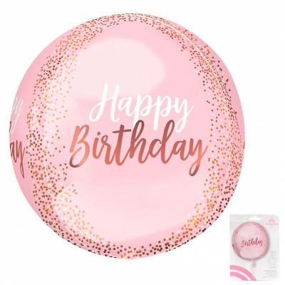 3D Розовый С днем рождения в упаковке / А 16 Сфера