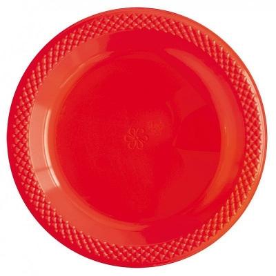 """Тарелки пластиковые """"Делюкс"""" Красные"""