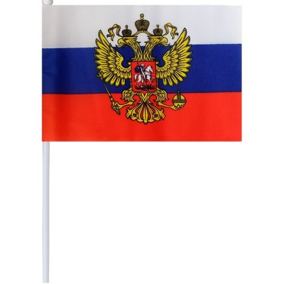 Флаг Россия 20*30 см с гербом