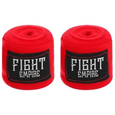 Бинты боксёрские эластичные FIGHT EMPIRE 4 м, цвет красный