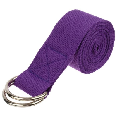 Ремень для йоги 180 х 4 см, цвет фиолетовый