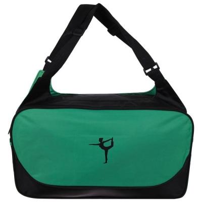 Сумка для йоги 48 х 25 х 18 см, цвет зеленый
