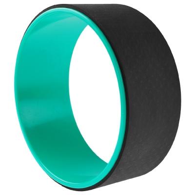 Йога-колесо «Лотос» 33 × 13 см, цвет мятный/чёрный