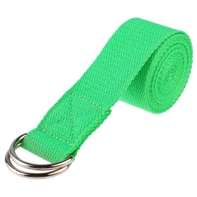 Ремень для йоги, 180 × 4 см, цвет зелёный