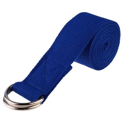 Ремень для йоги, 180 × 4 см, цвет синий