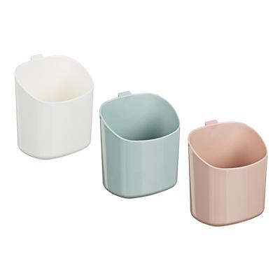VETTA Стакан для ванной комнаты, самоклеящийся, пластик, 11,5х8х 9,5см, 3 цвета