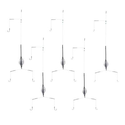 AZOR FISHING Оснастка донная с 3 крючками, антизакручивателем и кормушкой, 5 видов