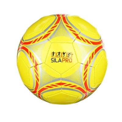 Мяч футбольный 2 сл, р.5, 22см, ПВХ 1.5мм, 4 цвета, 260гр (+-10%)
