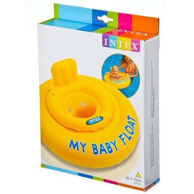 INTEX Круг для малыша с сиденьем, 70см, от 6 до 12 месяцев, 56585