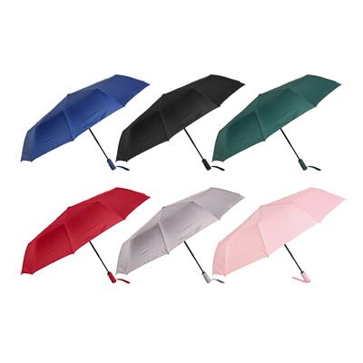 Зонт мужской, автомат, сплав, пластик, полиэстер, длина 55см, 8спиц, 4-6 цветов,3026S-1