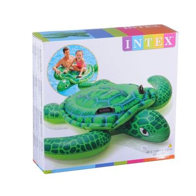 """INTEX Плотик """"Маленькая морская черепашка"""", 150х127см, от 3 лет, 57524"""