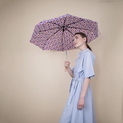 Зонт женский, механика, 8 спиц, 55см, металл, пластик, полиэстер, 6 дизайнов, 305Q