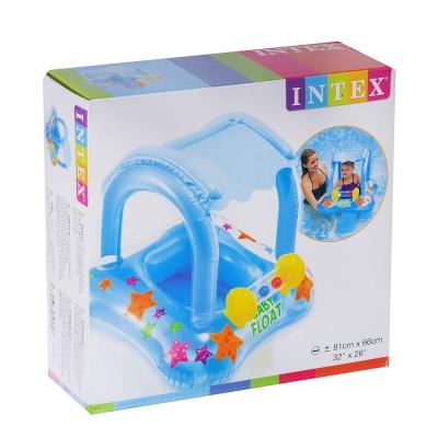 INTEX Круг детский с навесом, с сиденьем, 81x66см, для 1-2 лет, 56581
