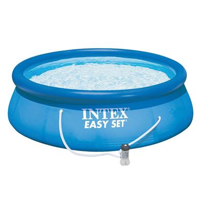 INTEX Бассейн надувной Изи Сет 396x84см, 7290л, насос-фильтр 2006л/ч, 28142