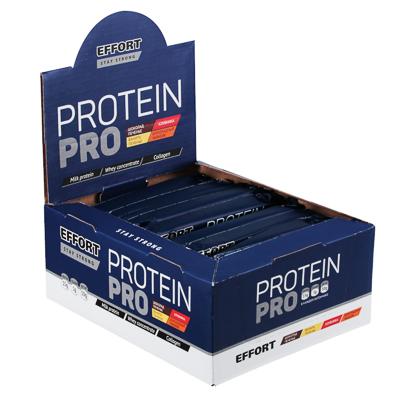 Батончик Effort Protein pro, 60г, 2 вида: шоколад печенье / ваниль печенье