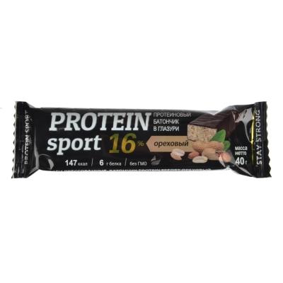 Батончик Effort Protein sport, 40г, 2 вида: шоколад / ореховый