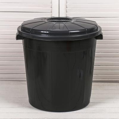 Бак хозяйственно-бытовой, 50 л, с крышкой, чёрный