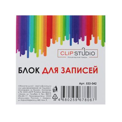 Блок для записей, в форме кубика, 9x9х4,5см, белый, 65г/м2, белизна 70-80%
