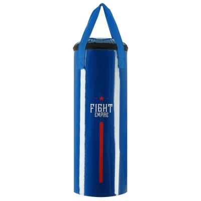 Мешок боксёрский FIGHT EMPIRE, на ленте ременной, синий, 60 см, d=23 см, 11 кг
