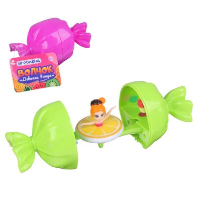 ИГРОЛЕНД Волчок девочка в шаре, ABS, 12,5х6,5х6,5см, 6 дизайнов