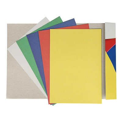 ClipStudio Картон цветной 5 листов, 5 цветов, 19х27,5 см, в папке