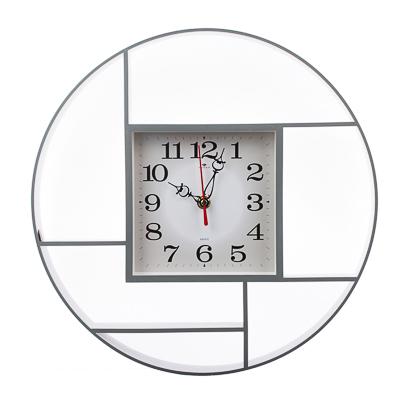 Часы настенные круглые, d35см, пластик