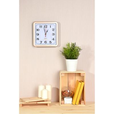 LADECOR CHRONO Часы настенные квадратные 23х23см, пластик, 4 цвета, 1xAA
