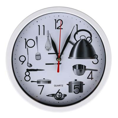LADECOR CHRONO Часы настенные круглые, 19,5 см, пластик, стекло, Кухня, 1хАА