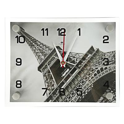 """Часы настенные, 20х26см, """"Эйфелева башня"""", стекло, арт.о-10"""