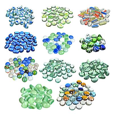 LADECOR Камни декоративные стеклянные цветные 200гр, 12 видов