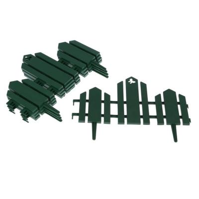 Ограждение декоративное, 25 × 170 см, 5 секций, пластик, зелёное, «Чудный сад»