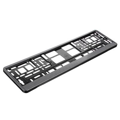 NG Рамка автомобильного номера, пластик, тиснение карбон темный, 52,7х13,3 см