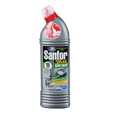Средство для очистки канализационных труб Sanfor, Профилактика и дезинфекция, 750 мл