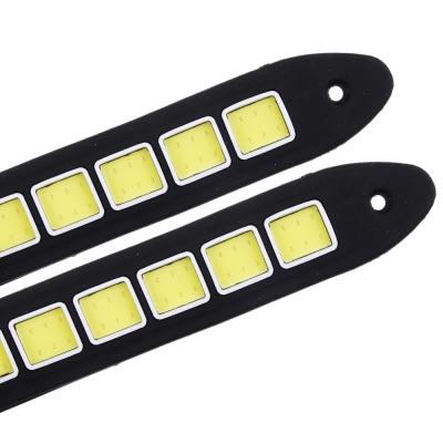 NEW GALAXY Дневные ходовые огни, LED 36шт, гибкий резин. корп., 180мм, 12V, белый, 2шт.