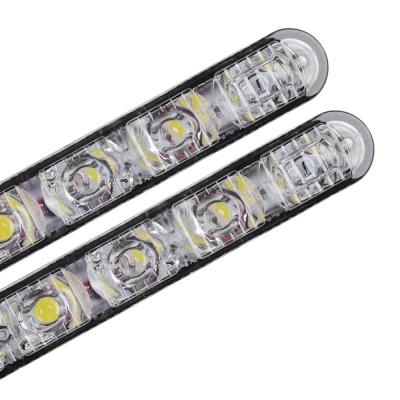 NEW GALAXY Дневные ходовые огни, LED 6шт, Линзы, алюм. корп., 130мм, 12V, 2шт