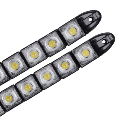 NEW GALAXY Дневные ходовые огни, LED 8шт, гибкий пласт. корп., 220мм, 12V, белый, 2шт.