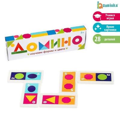 Домино «Изучаем цвета и формы», пластик