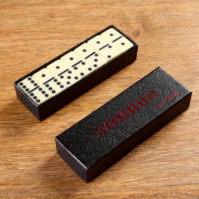Домино 28 шт в картонной коробке, микс, 3.5х15х5.3см
